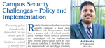 "An article written by Mr. Anil Koushal (IT Department) titled ""Campus Security challenges: Policy and Implementation"" is published"