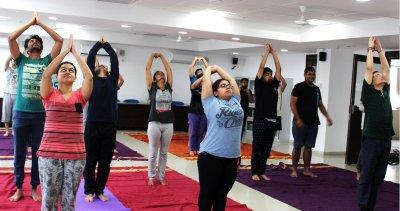 IIM Indore celebrated the Fourth International Yoga Day
