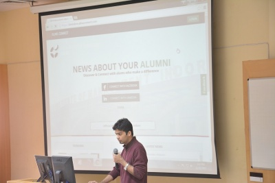 Shubham Goel explains the Alumni Portal